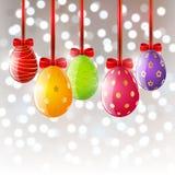 Huevos de Pascua en fondo del bokeh libre illustration