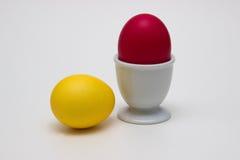 Huevos de Pascua en hueveras fotografía de archivo libre de regalías