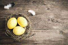 Huevos de Pascua en jerarquía Fotografía de archivo