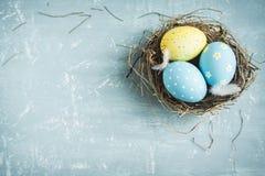 Huevos de Pascua en jerarquía Fotos de archivo