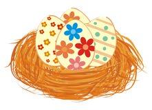 Huevos de Pascua en jerarquía stock de ilustración