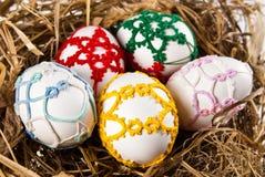 Huevos de Pascua en jerarquía Imagen de archivo libre de regalías
