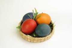 Huevos de Pascua en la bandeja Fotografía de archivo
