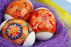 Huevos de Pascua en la jerarquía Imágenes de archivo libres de regalías