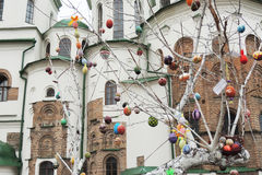 Huevos de Pascua en los tres Imágenes de archivo libres de regalías