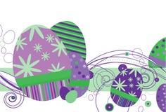Huevos de Pascua en púrpura ilustración del vector