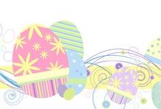 Huevos de Pascua en pasteles tradicionales stock de ilustración
