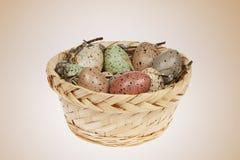 Huevos de Pascua en puntos manchados Imagen de archivo