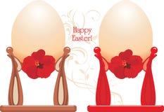 Huevos de Pascua en tazas libre illustration