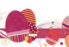 Huevos de Pascua en tonos de la uva roja ilustración del vector