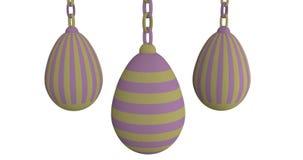 Huevos de Pascua en tonos en colores pastel almacen de video
