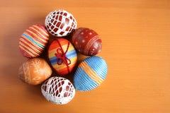 Huevos de Pascua en un círculo Foto de archivo