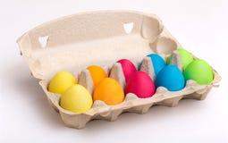 Huevos de Pascua en una caja Foto de archivo