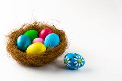 Huevos de Pascua en una jerarquía Fotografía de archivo libre de regalías