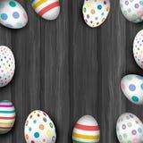 Huevos de Pascua en vieja textura de madera libre illustration