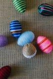 Huevos de Pascua envueltos en secuencia Fotografía de archivo libre de regalías