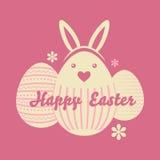Huevos de Pascua felices Fotos de archivo