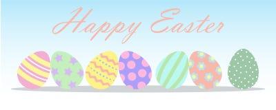 Huevos de Pascua felices 2017 Fotografía de archivo