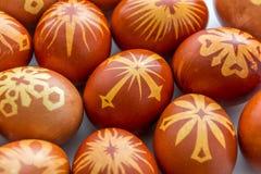 Huevos de Pascua felices auténticos imagen de archivo