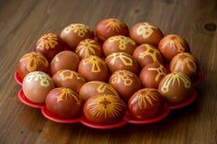 Huevos de Pascua felices auténticos imágenes de archivo libres de regalías