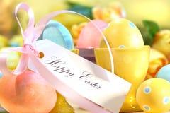 Huevos de Pascua festivos fotos de archivo libres de regalías