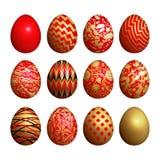 Huevos de Pascua fijados Foto de archivo libre de regalías