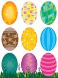 Huevos de Pascua fijados Fotografía de archivo libre de regalías