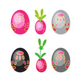 Huevos de Pascua fijados Imagenes de archivo