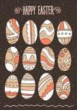 Huevos de Pascua fijados Fotos de archivo