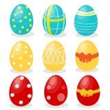 Huevos de Pascua fijados Imagen de archivo libre de regalías