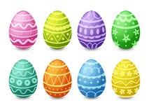 Huevos de Pascua fijados Fotografía de archivo