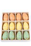 Huevos de Pascua, fondo de Pascua imagen de archivo libre de regalías