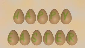 Huevos de Pascua giratorios con los saludos de pascua ilustración del vector