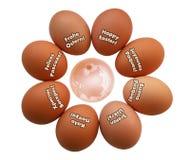 Huevos de Pascua globales Foto de archivo