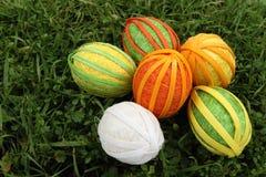 Huevos de Pascua hechos a mano Fotos de archivo libres de regalías