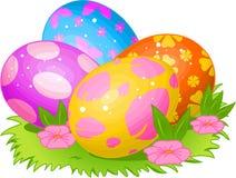 Huevos de Pascua hermosos stock de ilustración