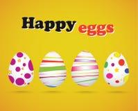 Huevos de Pascua - huevos felices Foto de archivo