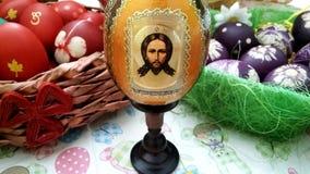 Huevos de Pascua - Icono-huevo ruso Foto de archivo libre de regalías