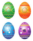 Huevos de Pascua. Ilustración del vector. Imagen de archivo
