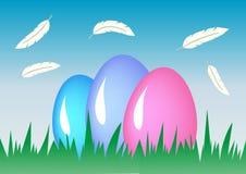 Huevos de Pascua de la composición Fondo del día de fiesta Fotografía de archivo libre de regalías