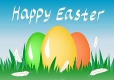 Huevos de Pascua de la composición Fondo del día de fiesta Foto de archivo