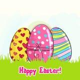 Huevos de Pascua lindos ilustración del vector
