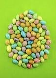 Huevos de Pascua manchados del caramelo Foto de archivo libre de regalías