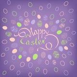 Huevos de Pascua a mano en estilo del garabato Imagen de archivo libre de regalías