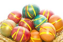 Huevos de Pascua multicolores Imágenes de archivo libres de regalías