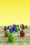 Huevos de Pascua multicolores Fotos de archivo libres de regalías