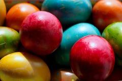 Huevos de Pascua multicolores Fotografía de archivo libre de regalías