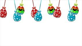 Huevos de Pascua multicolores colgantes libre illustration