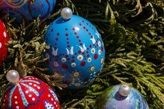 Huevos de Pascua pintados Fotos de archivo libres de regalías