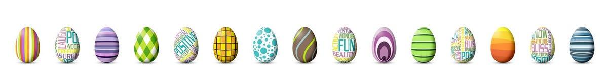Huevos de Pascua pintados Fotografía de archivo libre de regalías